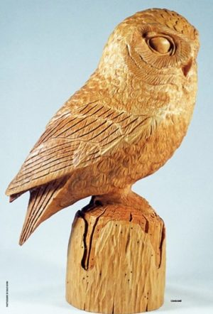 Wood carving, Owl