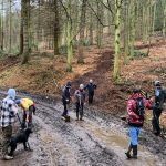 Raincliffe Woods, Mountain bikers, Scarborough,