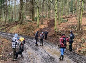Raincliffe Woods, Mountain bikers, Scarborough,