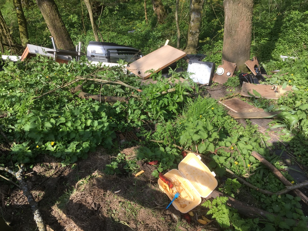 Fly Tipping, Forge Valley, Bird Watchers Car Park